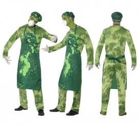 Disfraz Infectado por Agente Biológico para Hombre