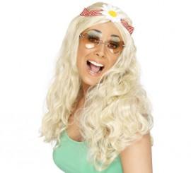 Peluca Hippy Cool con Cinta para el Pelo para Mujer