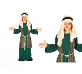 Disfraz de Pastor Hebreo verde para niños