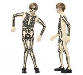 Disfraz Esqueleto Segunda Piel para Niño