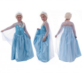 Disfraz de Princesa del Hielo para Niña en Varias Tallas