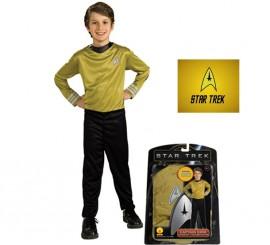 Disfraz de Kirk de Star Trek para niños de 5 a 7 años