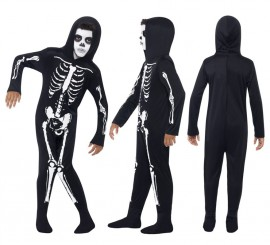 Disfraz Esqueleto Negro para Niño