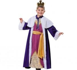 Disfraz Rey Mago Gaspar para niño
