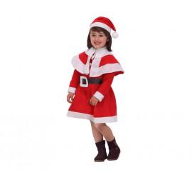 Disfraz de Mamá Noel para niñas de 5 a 6 años