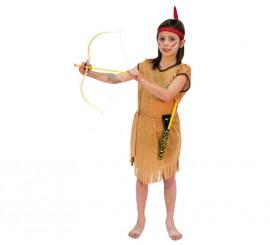 Disfraz de India marrón para niñas