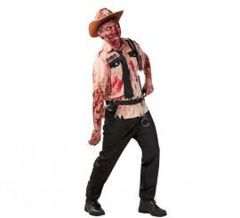 Disfraz de Policía Zombie para hombre en Halloween