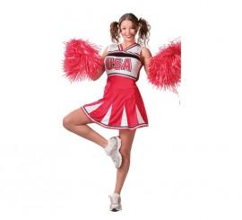 Disfraz de Animadora Cheerleader para mujer adulta