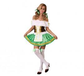 Disfraz para mujer Sexy de Tirolesa verde talla 38/40