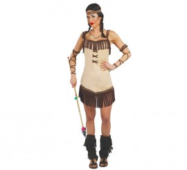 Disfraz para mujer de India Miwok talla 38/40