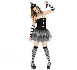 Disfraz de Arlequín Asesina de mujer para Halloween