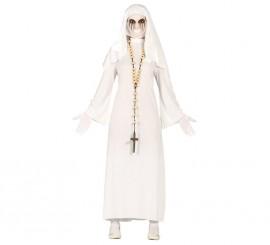 Disfraz de Ghost Monja blanca para mujer en Halloween