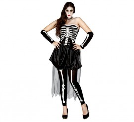 Disfraz de Mujer Esqueleto para Halloween de mujer