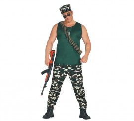 Disfraz de Soldado o Militar de Camuflaje para Hombre