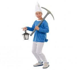 Disfraz de Enanito Azul para niños de 10 a 12 años