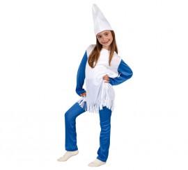 Disfraz de Enanita Azul para niñas