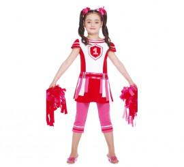 Disfraz de Animadora para niñas de 7 a 9 años