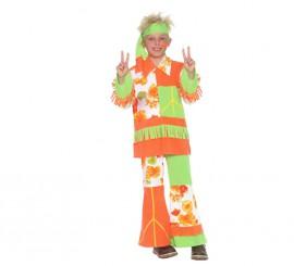 Disfraz de Hippie 7-9 años para niño