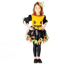 Disfraz de Calabaza simpática para niñas