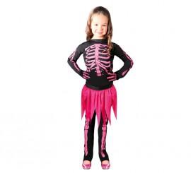 Disfraz de Skeleton rosa para niñas de 10 a 12 años