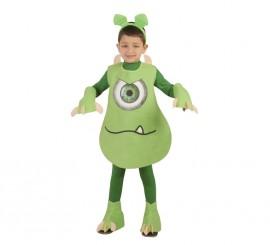 Disfraz Monstruito verde para niños