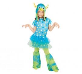 Disfraz de Monstruita azul para niñas
