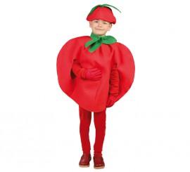 Disfraz de Tomate rojo para niños