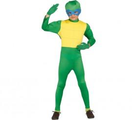 Disfraz de Ninja Verde para niños de 7 a 9 años