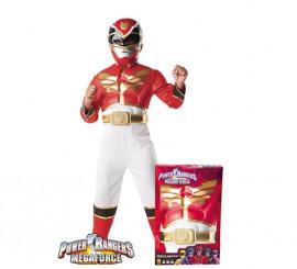 Disfraz de Power Ranger musculoso Rojo Niño