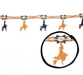 Guirnalda Brujas de 33 x 200 cm. para Halloween