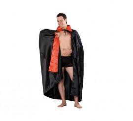 Capa Vampiro de color rojo y negro para Halloween
