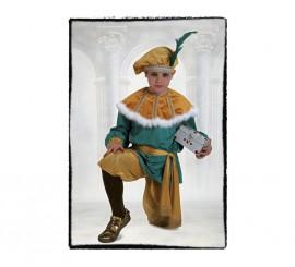 Disfraz de Paje del Rey Melchor Lujo de niño