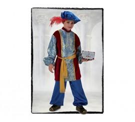Disfraz de Paje del Rey Gaspar Lujo de niño