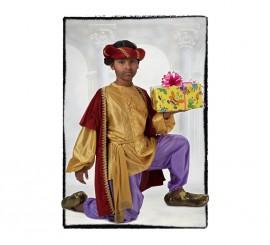 Disfraz de Paje del Rey Baltasar Lujo de niño