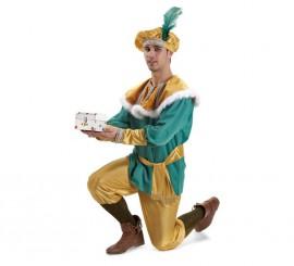 Disfraz o traje Paje del Rey Melchor extra adulto