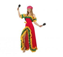 Disfraz de Brasileña Rosa para mujer