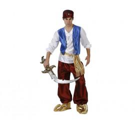 Disfraz de Príncipe Árabe granate para hombre