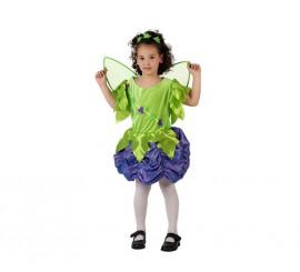 Disfraz de Ninfa del Bosque para niñas de 7-9 años