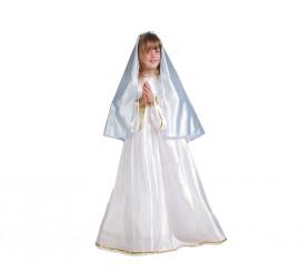 Disfraz de Virgen María para niñas