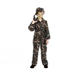 Disfraz militar camuflaje niño