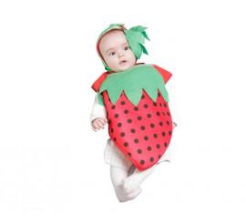 Disfraz - Babero Fresita 6 meses para bebé