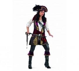Disfraz Pirata Corsaria Cosette Deluxa para mujer