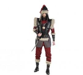 Disfraz de Mongol Genghis Kan para Hombre varias Tallas