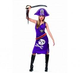 Disfraz de Pirata Sandra Malva Deluxe para mujer