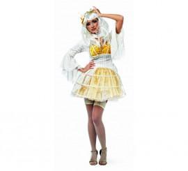 Disfraz de Miriñaque Blanco Danika Deluxe para mujer