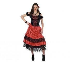 Disfraz de Carmen Flamenca rojo y negro