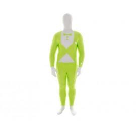 MORPHSUIT modelo traje verde fluor con pajarita