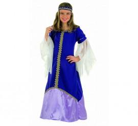 Disfraz de Medieval Recina para niñas