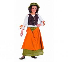 Disfraz de Tabernera Medieval Agnes para niña