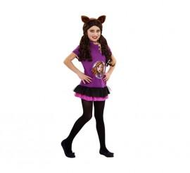 Disfraz de Gothic Wolf para niñas